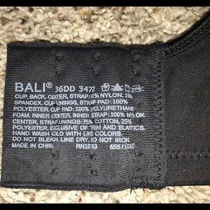 3fbc318287ec9 Bali Intimates   Sleepwear - Bali black bra 36DD with lining